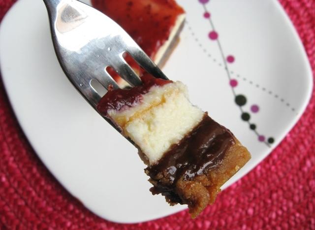 brownie, cheesecake, white chocolate, raspberry
