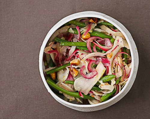 Green bean and fennel salad