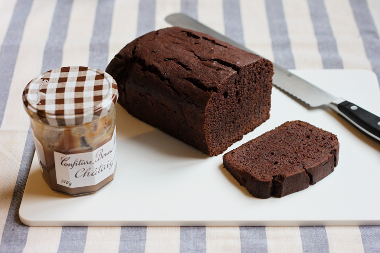 chocolate chestnut loaf cake