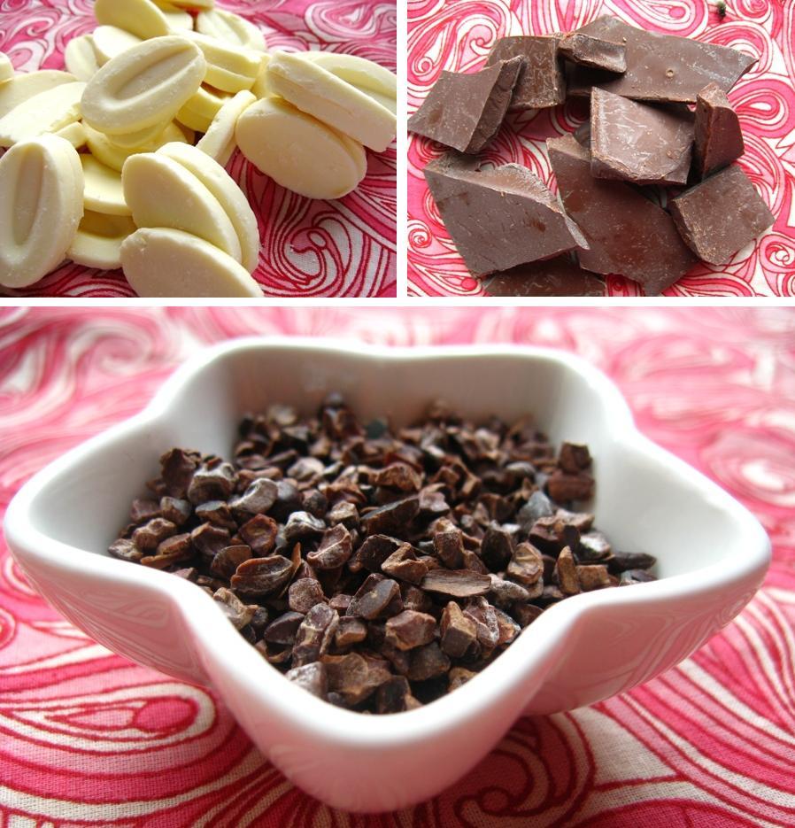chocolate and nibs