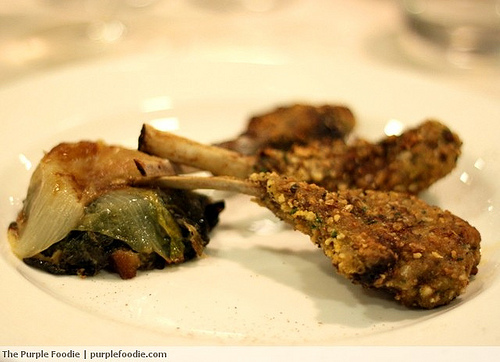 Hazelnut crusted lamb chops