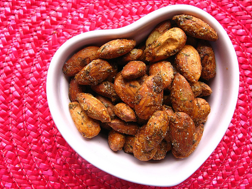Parmesan and Thyme Roasted Almonds