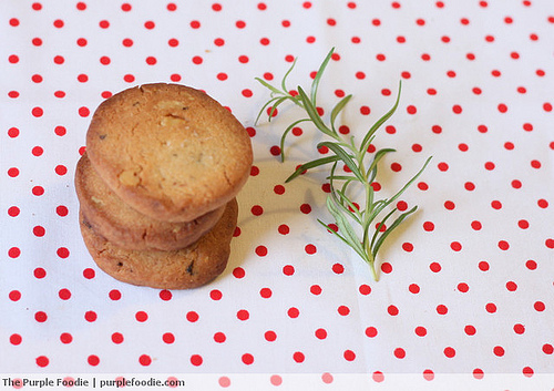 Rosemary, Walnut and Brown Sugar Cookies • Purple Foodie