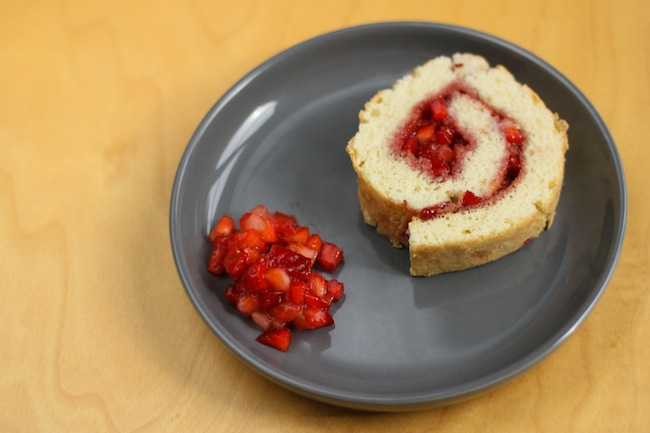 Strawberry and Raspberry Swiss Roll Cake