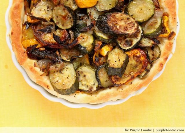 Zucchini Onion Tart